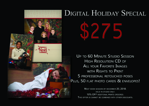 Winter Holiday Digital Portrait Package