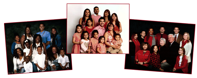 Portraits of three Extended Families