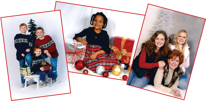 Holiday Gift Portrait packages include 8 x 10' prints & smaller