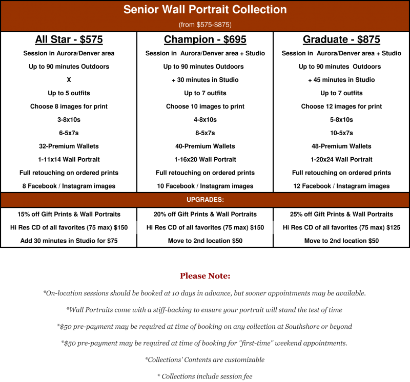H.S. Senior Wall Portrait Collection